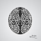 Creative concept of the human brain. Vector elegant illustration Royalty Free Illustration