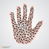 Creative concept of the human hand Stock Image