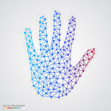 Creative concept of the human hand Stock Photo