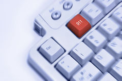 Creative concept idea keyboard. Keyboard emergency 911 help concept Royalty Free Stock Images