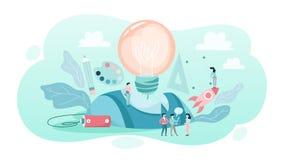 Creative concept. Idea of creative thinking and imagination stock illustration