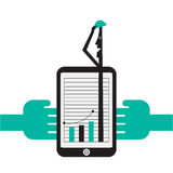 Creative Concept illustration depicting success stock illustration