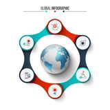 Creative concept for infographic. Royalty Free Stock Photo