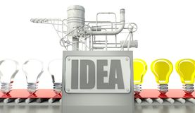 Creative concept with light bulbs Royalty Free Stock Photos