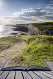 Creative concept pages of book Seven Sisters from Birling Gap Su Royalty Free Stock Photos