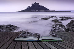 Creative concept pages of book St Michael's Mount Bay Marazion l Stock Photos