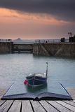 Creative concept pages of book A traditional Cornish fishing vil Stock Photo
