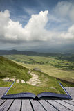 Creative concept pages of book View from Cadair Idris mountain N Stock Image