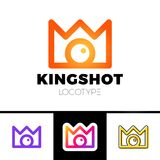 Creative concept for photography studio. Modern logo design layout with camera and crown. Corporate symbol idea. Creative concept for photography studio. Modern Stock Photography