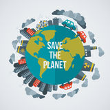 Creative concept Save the Planet stock illustration