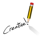 Creative concept signature Royalty Free Stock Image