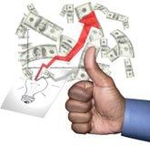 Creative concept - success Royalty Free Stock Photo