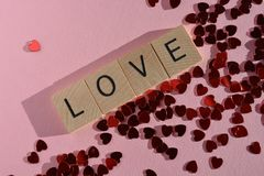 Creative concept : Valentine`s Day, Love and Romance stock photo