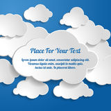 Creative concept vector clouds collection on a blue bac Stock Photos