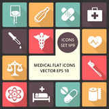 Creative concept vector Flat Icons of medical elements for Web and Mobile Applications. Vector illustration creative Royalty Free Stock Photos