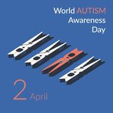 Creative concept vector illustration for World Autism awareness day. vector illustration
