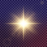 Creative concept Vector set of glow light effect stars bursts with sparkles isolated on black background. vector illustration