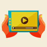 Creative concept with video player Royalty Free Stock Photo