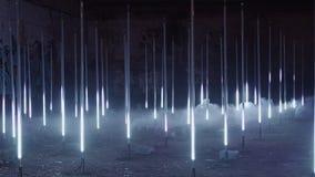 Futuristic creative light performance exposition
