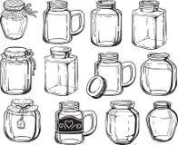 Jar set. Stock Photo