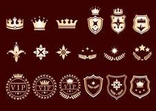 Crown set. Royalty Free Stock Image