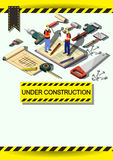 Creative construction  Template Flyer Brochure Vector Paper Design Template Stock Image
