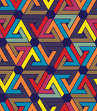 Creative continuous multicolored pattern, rich motif Royalty Free Stock Photos