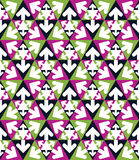 Creative continuous multicolored pattern with triangles and arro Stock Images