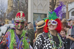 Creative Costumes At Mardi Gras Stock Photo