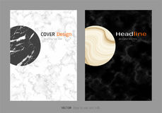 Creative cover design layout template, Marble texture background, Inspiration for your design Royalty Free Stock Images
