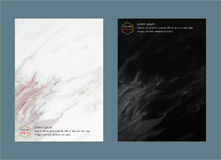 Creative cover design layout template, Marble texture background, Inspiration for your design Royalty Free Stock Photography