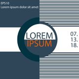 Creative covers design for the event banner, modern abstract background with geometric element. Vector illustration EPS10 Stock Images