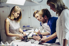 Creative coworkers' workshop Royalty Free Stock Photo
