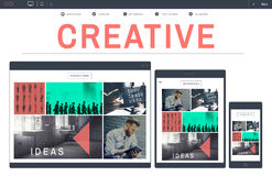 Creative Create Ideas Strategy Inspiration Concept stock image