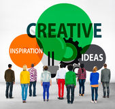 Creative Creativity Create Inspiration Ideas Concept.  Royalty Free Stock Photos