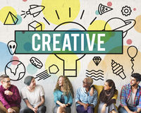Creative Creativity Inspire Ideas Innovation Concept royalty free stock image
