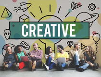 Creative Creativity Inspire Ideas Innovation Concept. Creative Creativity Inspire Ideas Innovation Royalty Free Stock Images