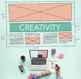 Creative Creativity Web Design Layout Concept Stock Photography