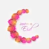 Creative crescent moon for Jashn-E-Eid celebration. Stock Images