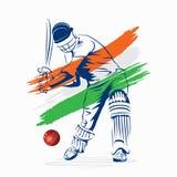 Creative cricket banner design Royalty Free Stock Photos