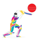 Creative cricket banner design  Stock Images
