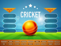 Creative Cricket Match Schedule. Royalty Free Stock Image