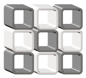 Creative cube background Stock Photo
