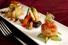 Creative Cuisine Appetizer Shrimp Seafood. Shrimp appetizers during a party Stock Image
