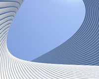 Creative curves modern conceptual background Stock Photography