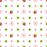 Creative Cute fruit and flower vector pattern Royalty Free Stock Images