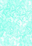 Creative cyan butterflies wallpaper Royalty Free Stock Image