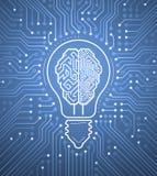 Creative Cybernetic Brain Royalty Free Stock Photo