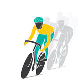 Creative cycling  race design Stock Image