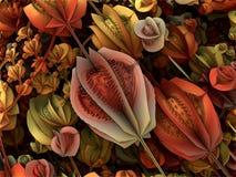 Futuristic digital 3d art fractal illustration - look in the infinity royalty free illustration